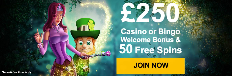 Casino or Bingo welcome bonus