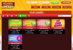 delicious slots bingo