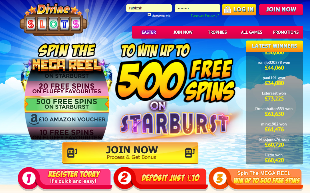 Divine Slots Come with latest offers