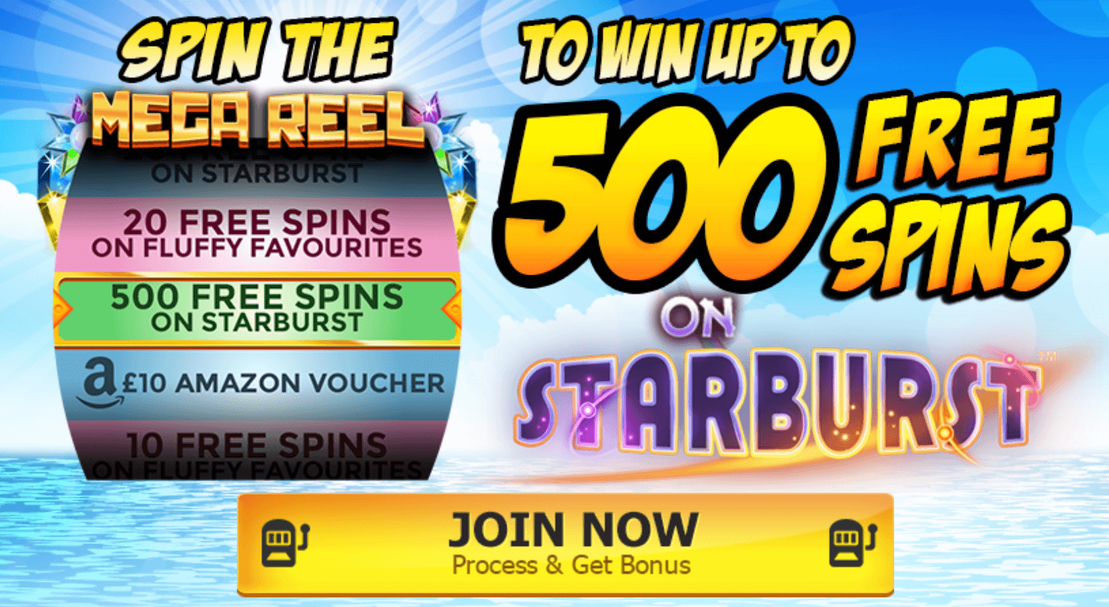 500 Free Spins on Starburst and Fluffy Favourites!