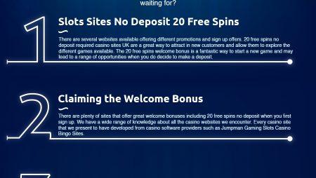 Best 20 Free Spins No Deposit Required Offers
